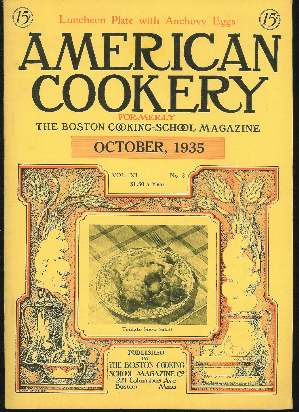 Image for AMERICAN COOKERY, OCTOBER 1935