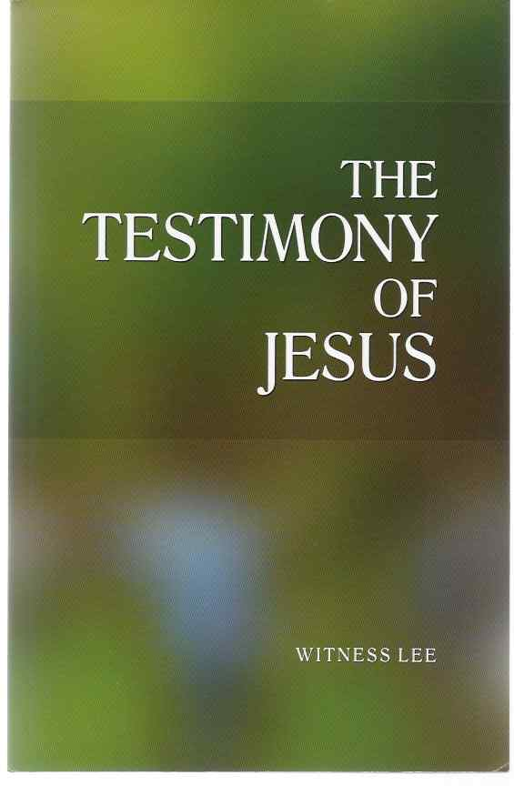 Image for THE TESTIMONY OF JESUS