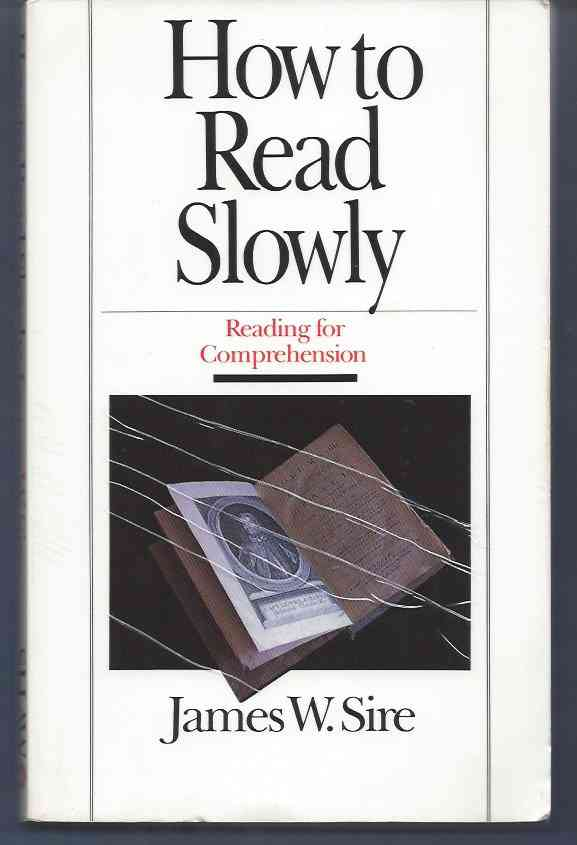 Image for HOW TO READ SLOWLY   Reading for Comprehension