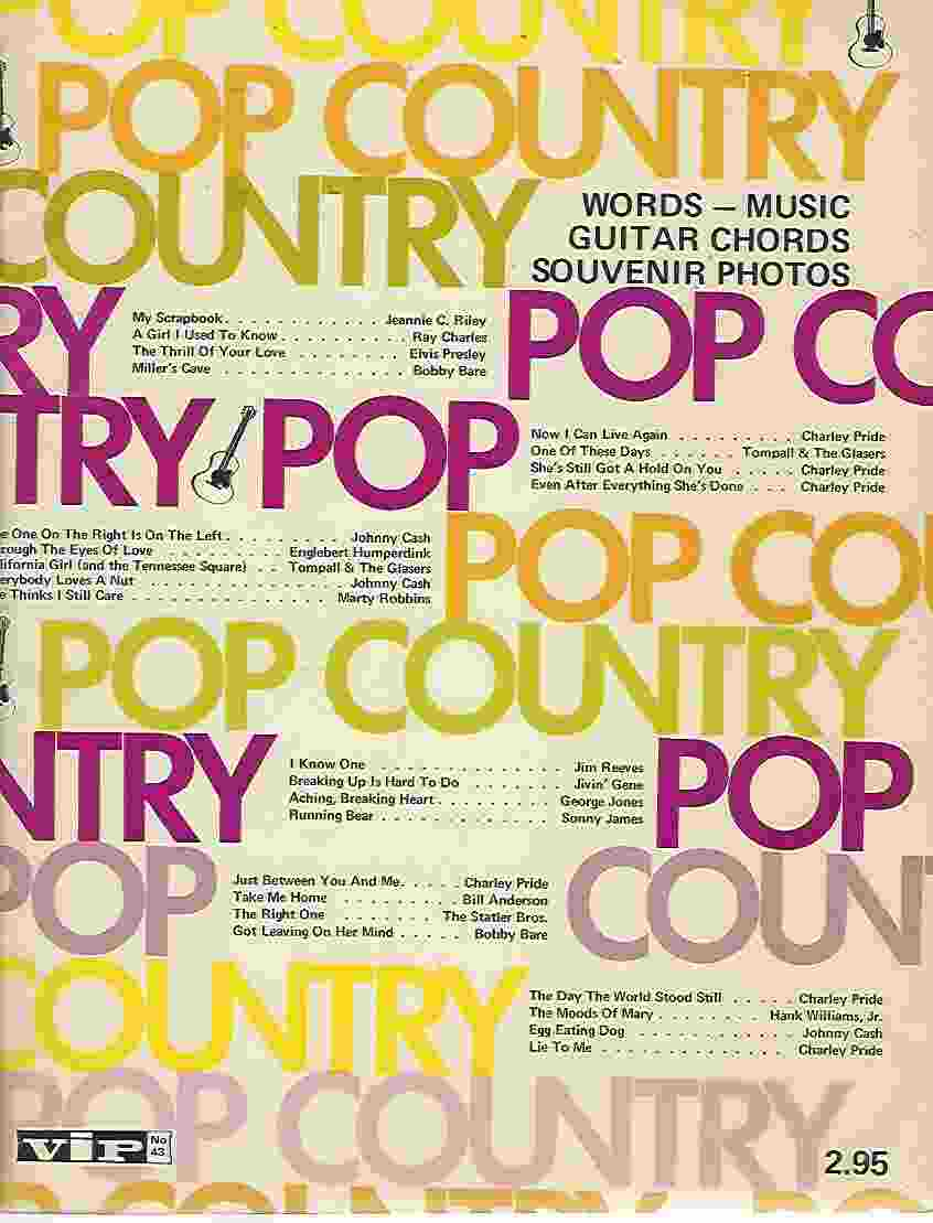 Image for POP COUNTRY [SHEET MUSIC]