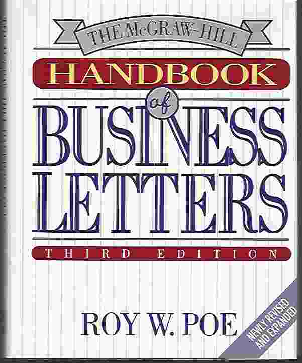 Image for THE MCGRAW-HILL HANDBOOK OF BUSINESS LETTERS