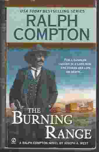 Image for THE BURNING RANGE A Ralph Compton Novel by Joseph a West