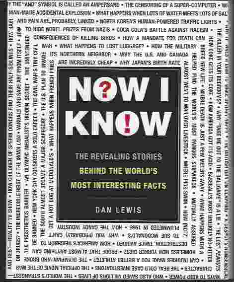Image for NOW I KNOW  The Revealing Stories Behind the World's Most Interesting Facts