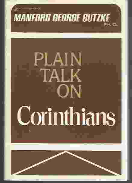 Image for PLAIN TALK ON FIRST AND SECOND CORINTHIANS