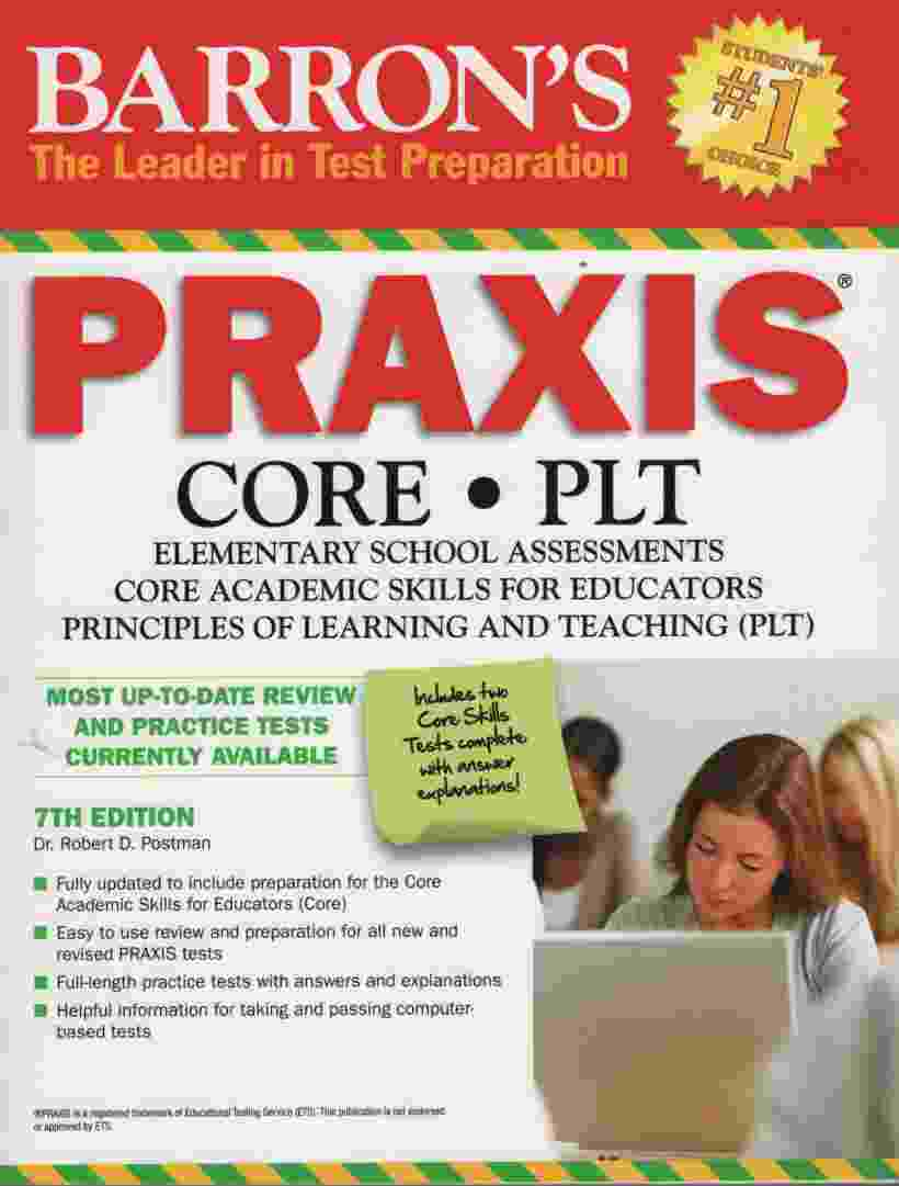 Image for BARRON'S PRAXIS, 7TH EDITION Core/plt Elementary School Assessments