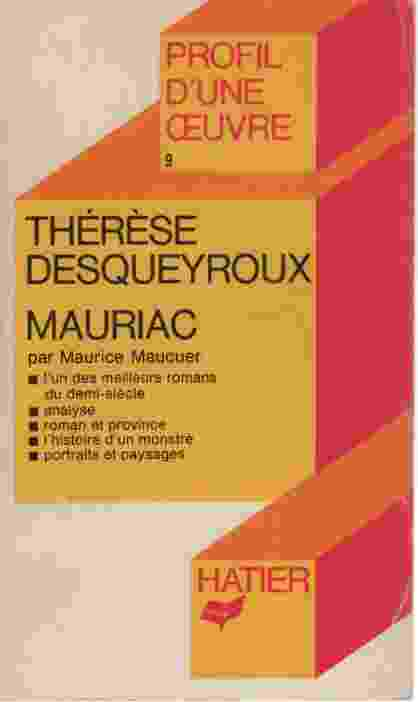 Image for THERESE DESQUEYROUX