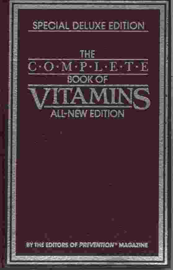 Image for THE COMPLETE BOOK OF VITAMIS