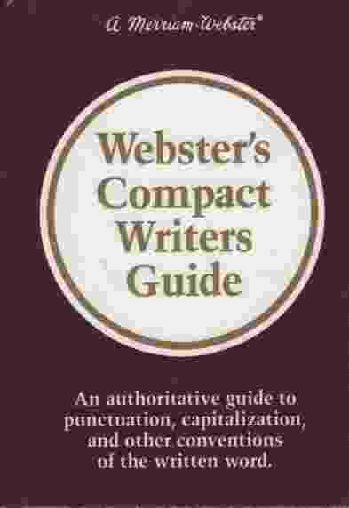 Image for WEBSTER'S COMPACT WRITERS GUIDE
