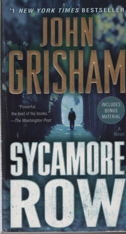 Image for SYCAMORE ROW [tall pb]  A Novel