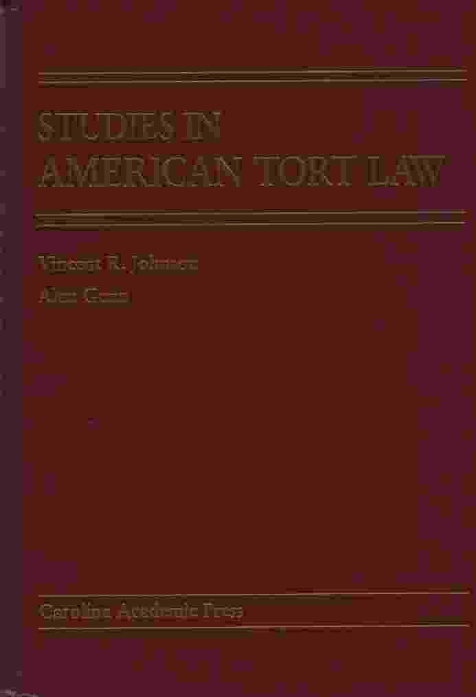 Image for STUDIES IN AMERICAN TORT LAW