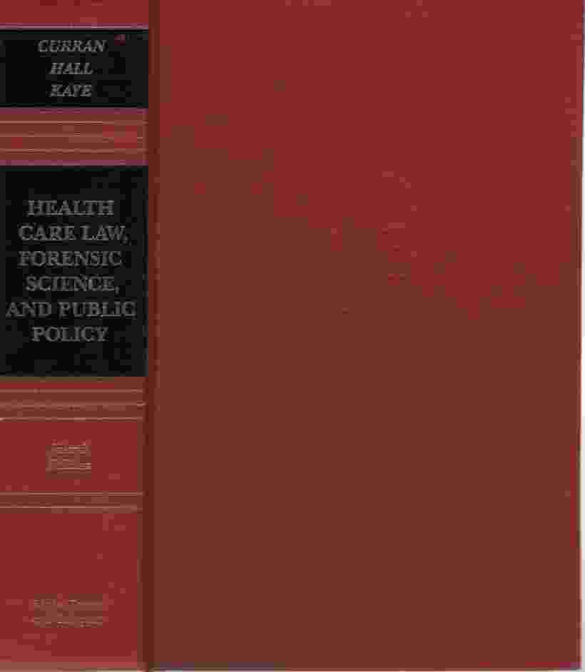 Image for HEALTH CARE LAW, FORENSIC SCIENCE AND PUBLIC POLICY