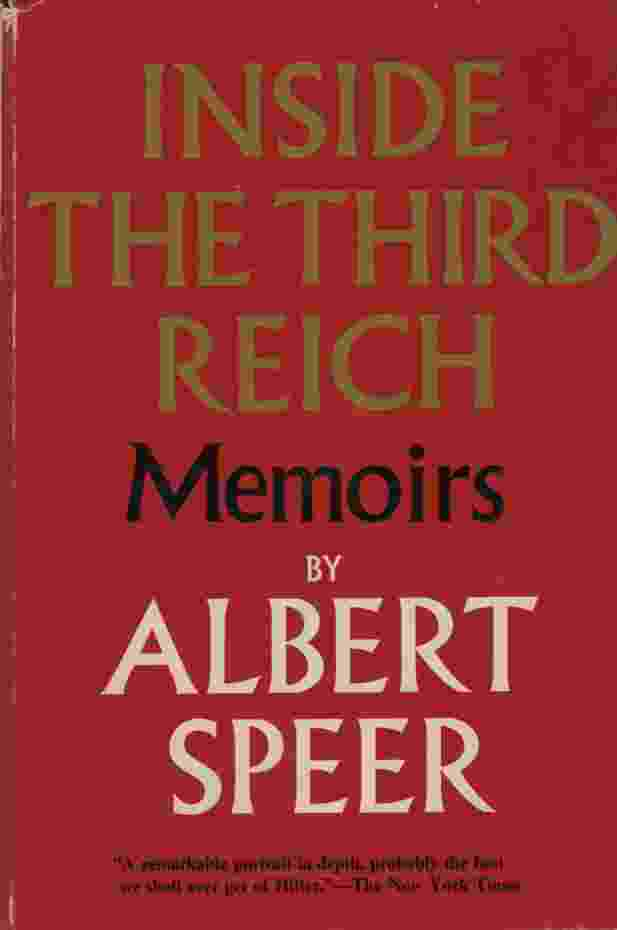 Image for INSIDE THE THIRD REICH Memoirs