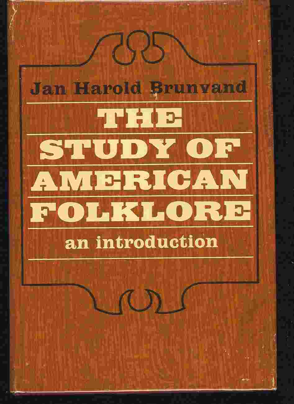 Image for THE STUDY OF AMERICAN FOLKLORE An Introduction