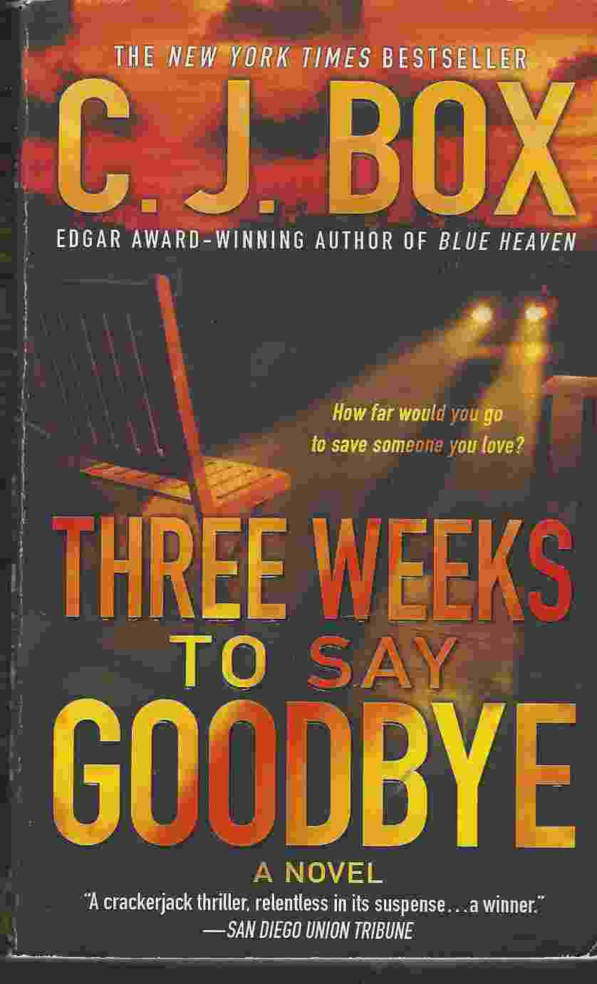 Image for THREE WEEKS TO SAY GOODBYE