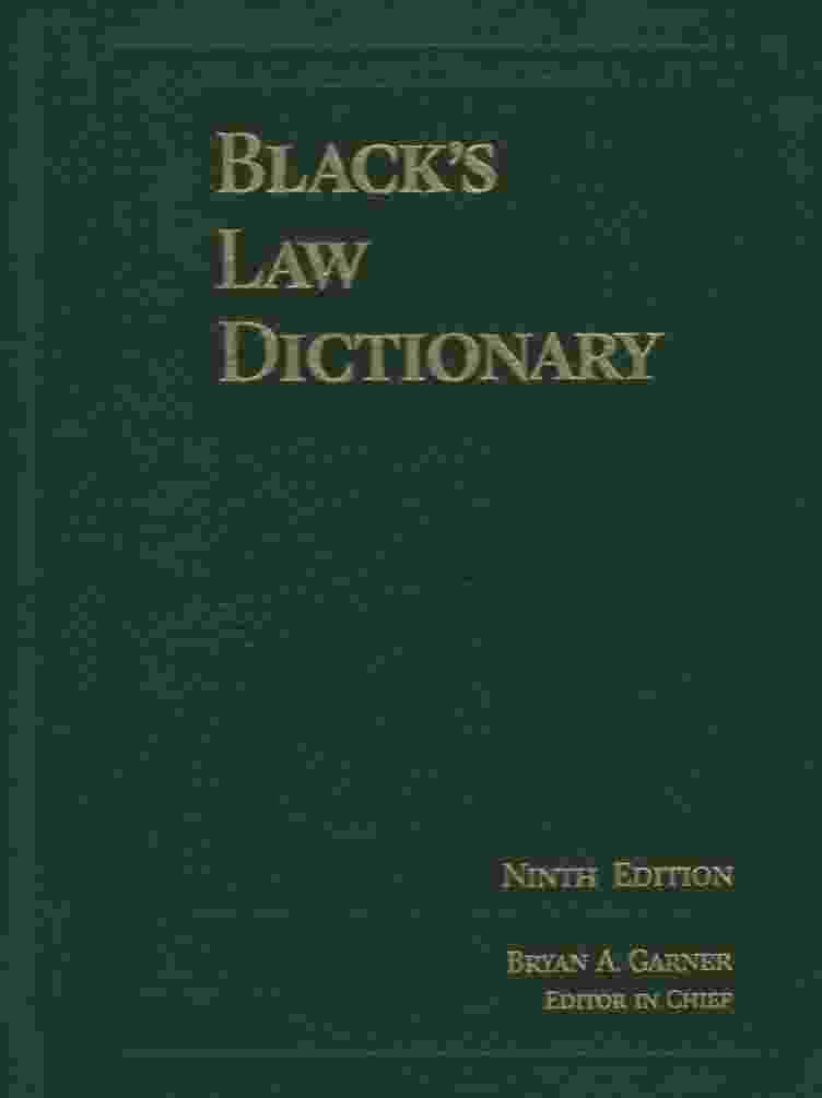 Image for BLACK'S LAW DICTIONARY, 9TH EDITION