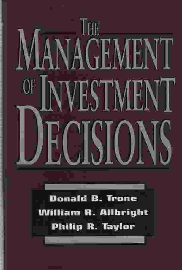 Image for THE MANAGEMENT OF INVESTMENT DECISIONS
