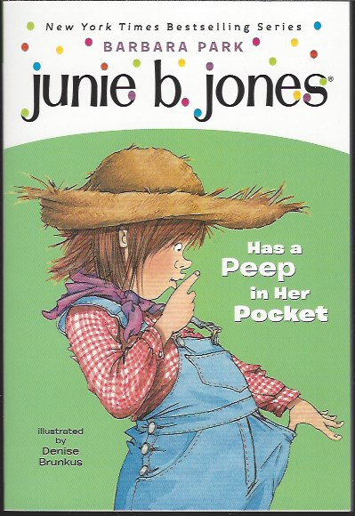 Image for JUNIE B JONES HAS A PEEP IN HER POCKET