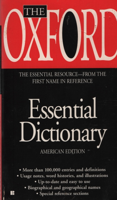 Image for THE OXFORD ESSENTIAL DICTIONARY, AMERICAN EDITION