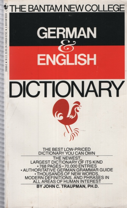 Image for THE BANTAM COLLEGE GERMAN & ENGLISH DICTIONARY