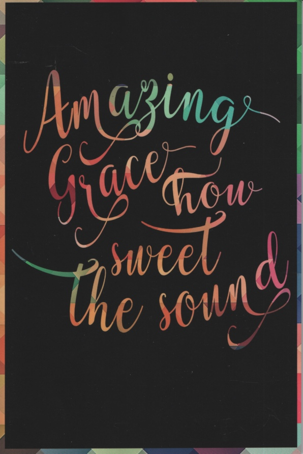 Image for AMAZING GRACE HOW SWEET THE SOUND, CHRISTIAN NOTEPAD Plain, Dotted Pages