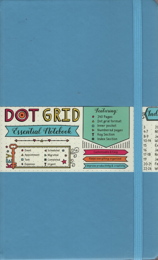 Image for METRO BLUE DOT GRID ESSENTIAL NOTEBOOK