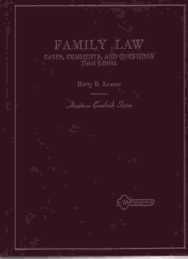 Image for FAMILY LAW, 3RD EDITION Cases, Comments and Questions