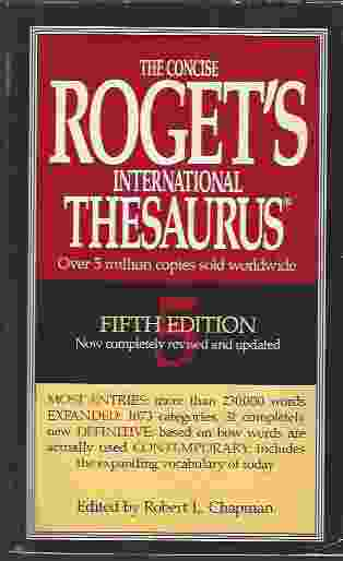 Image for THE CONCISE ROGET'S INTERNATIONAL THESAURUS, 5TH EDITION