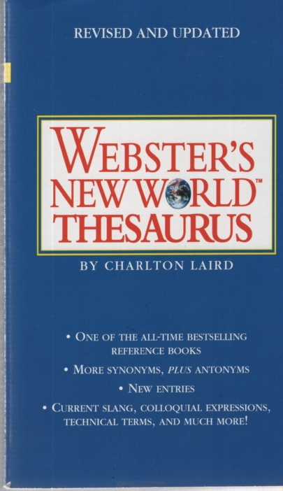 Image for WEBSTER'S NEW WORLD THESAURUS : THIRD EDITION