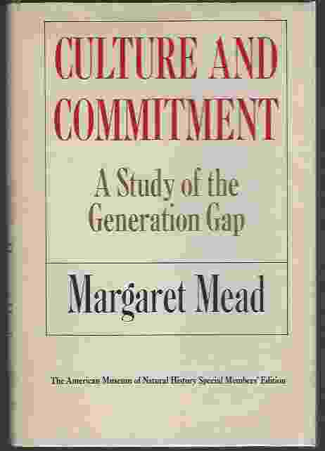 Image for CULTURE AND COMMITMENT A Study of the Generation Gap