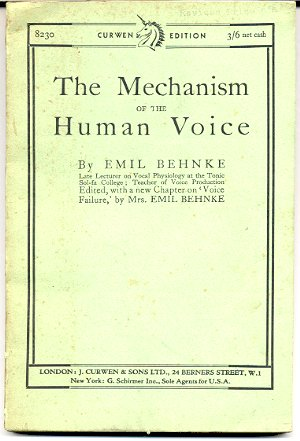 Image for THE MECHANISM OF THE HUMAN VOICE