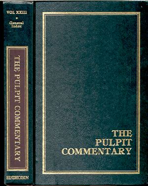 Image for THE PULPIT COMMENTARY VOLUME 23: GENERAL INDEX